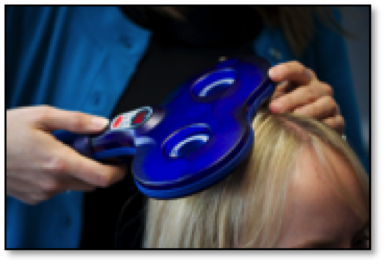 Patient head scanned