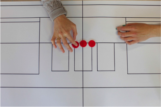 Board with with user hands